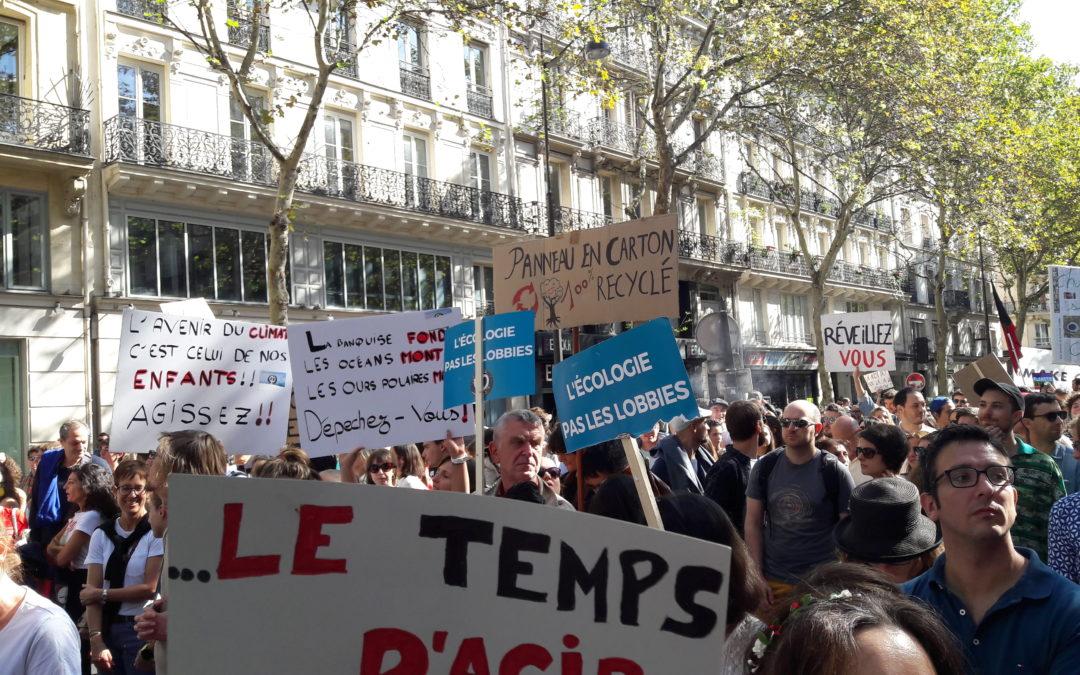 Les raisons pour lesquelles j'ai participé à la marche pour le climat du 8 septembre 2018
